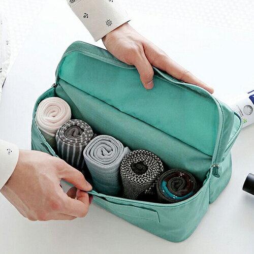 韓款多色雙收納旅行休閒防潑水 收納包 收納袋 旅行收納 包飾衣院 K1024 現貨