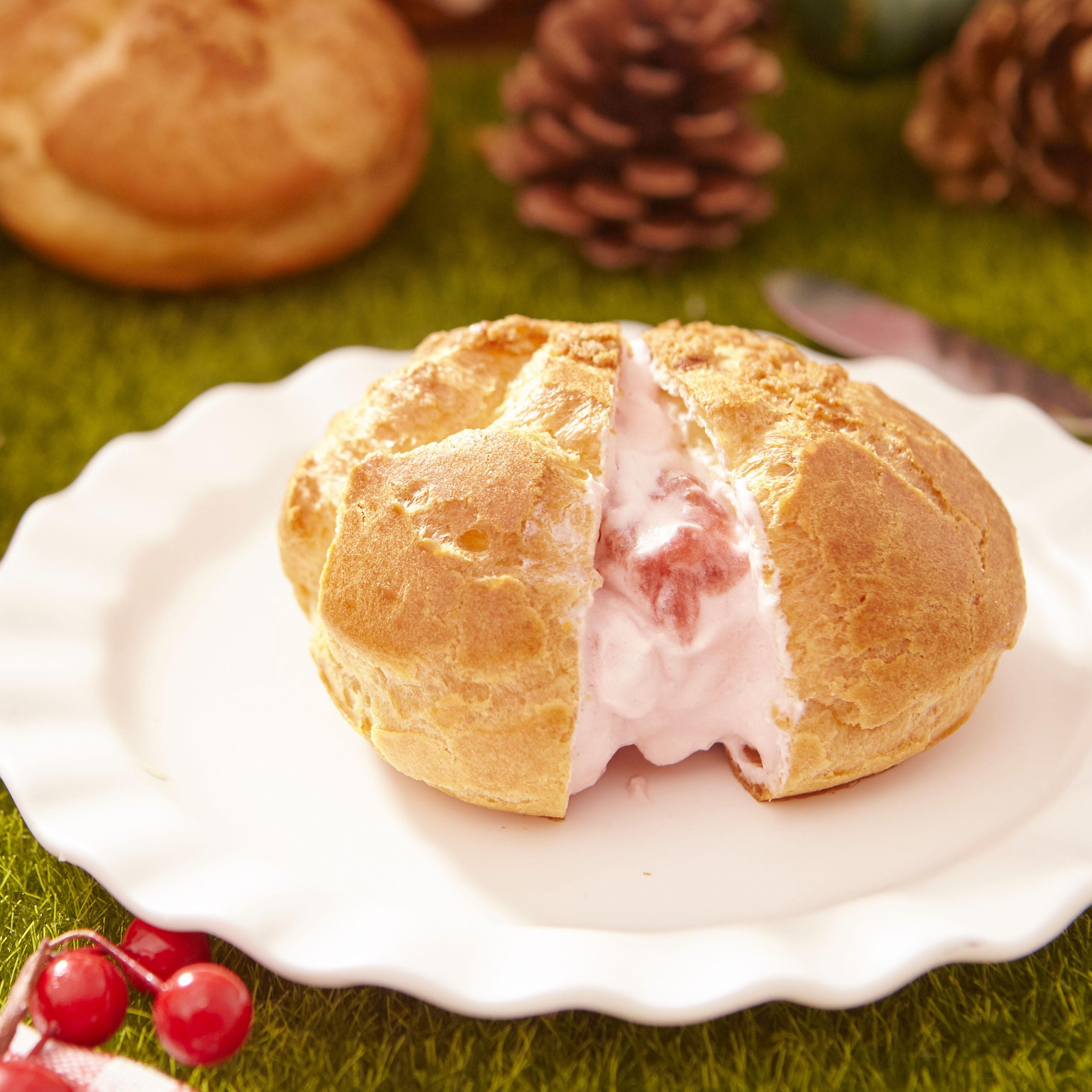 【銷售萬顆】人氣菠蘿泡芙6入禮盒-草莓口味