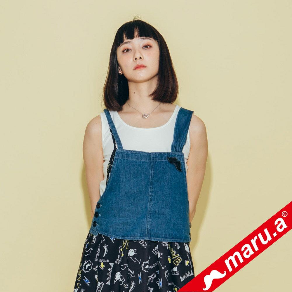 【maru.a】超可愛蝴蝶結牛仔背心 8313122 3