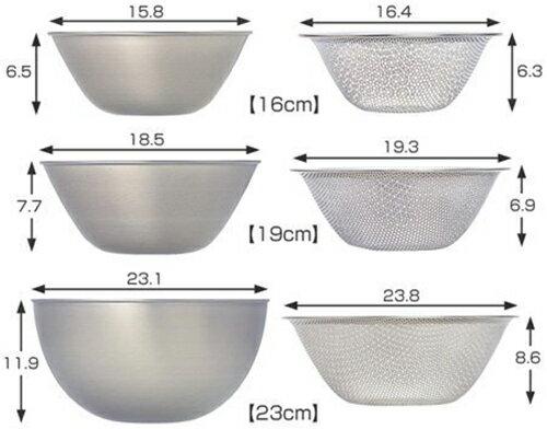 日本製 / 柳宗理Sori Yanagi / 不鏽鋼調理盆+濾網六件組 / 16、19、23cm / ST11323-日本必買 日本樂天代購 (10497*1.4)。件件免運 1