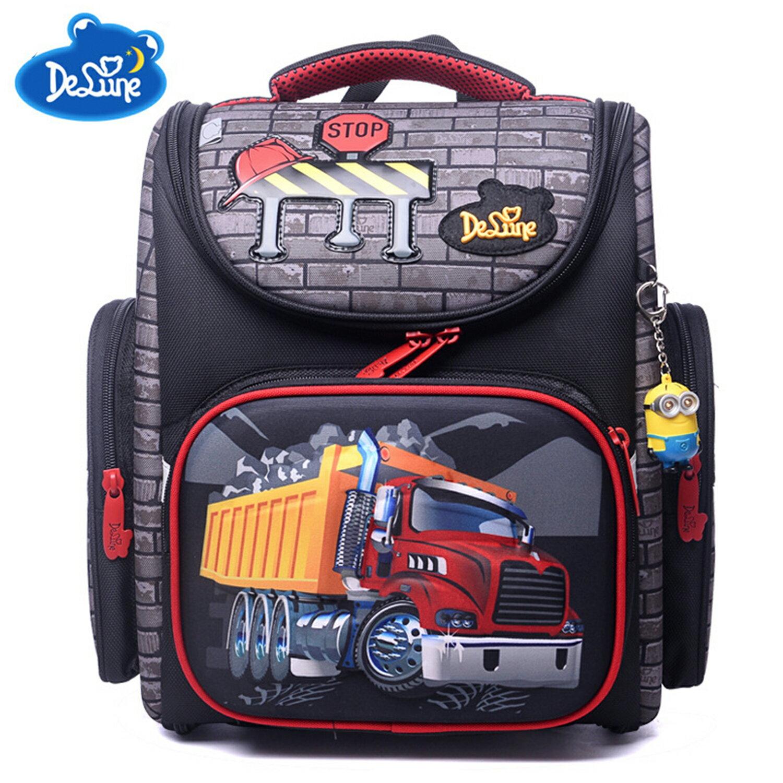 【Delune】【俄羅斯品牌護脊書包】【男童書包】紅色大貨車 A3-131