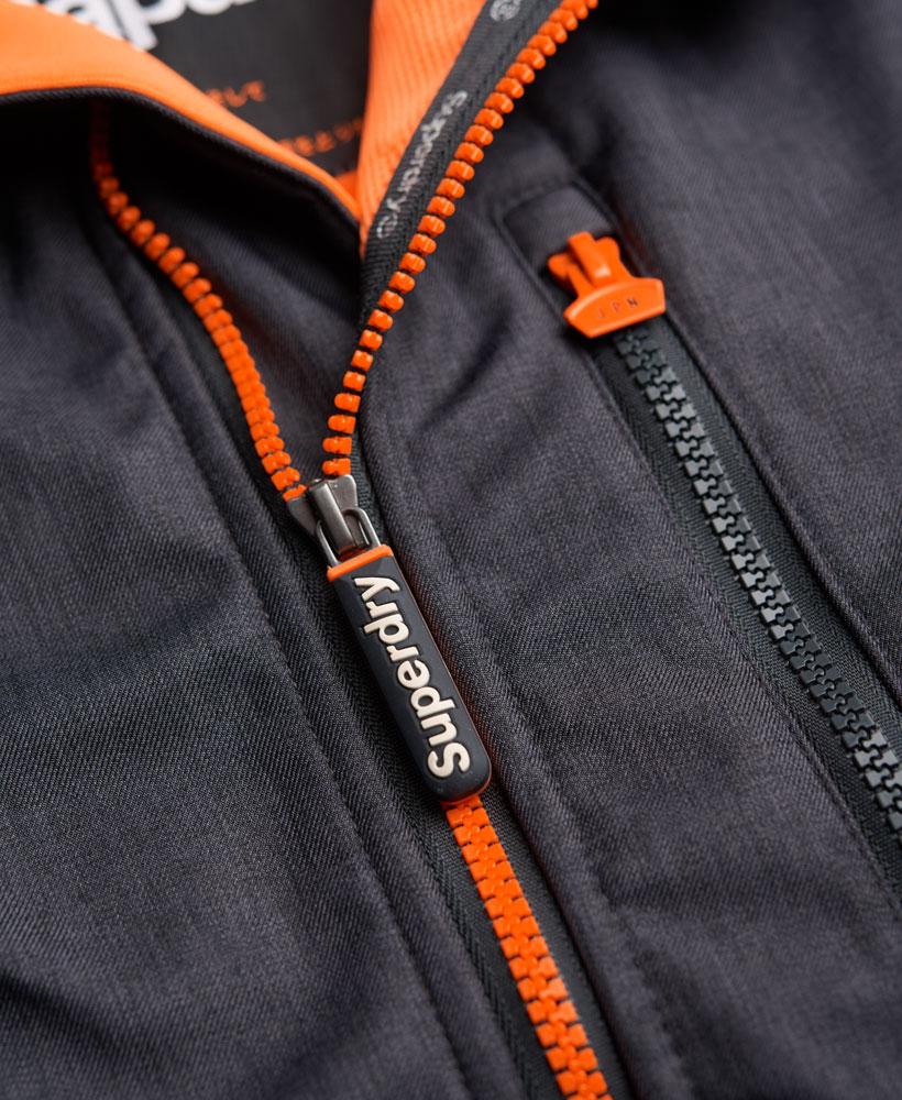 英國名品 代購 極度乾燥 Superdry Windtrekker 男士風衣戶外休閒外套 防水 深灰/螢光橙 4