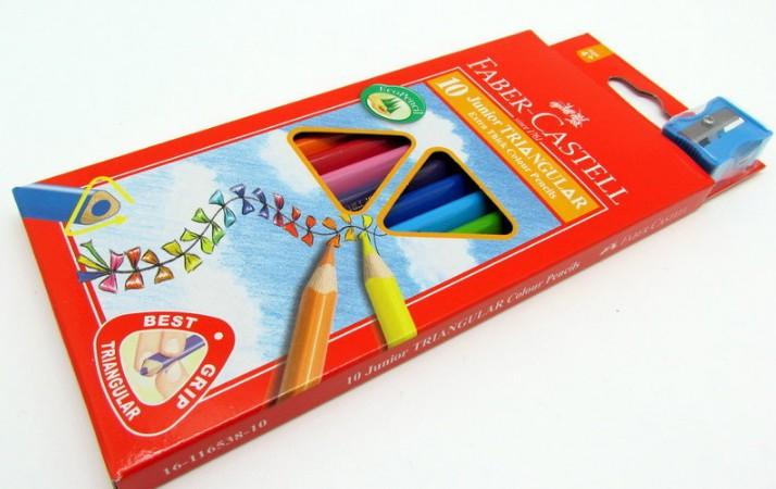 Faber~Castell 輝柏 #16~116538~10 10色大三角彩色鉛筆