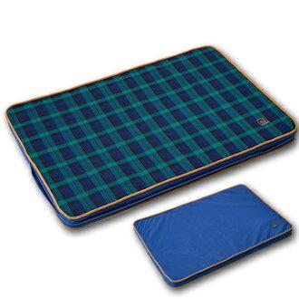 《Lifeapp》寵物緩壓睡墊L (藍格紋) 適用大型犬、長期照護、高齡犬110*70*5cm