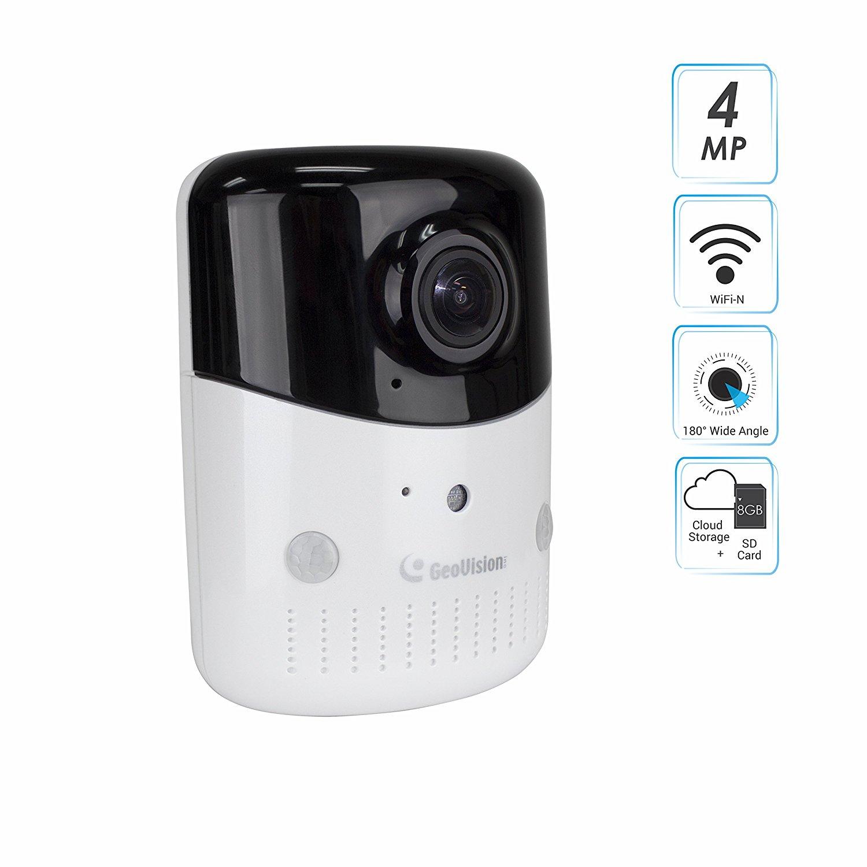 GeoVision GV-OPAL S1 Plus 4MP H 264 Cloud Fisheye Wireless IR Camera -  Standalone / Battery-Operated