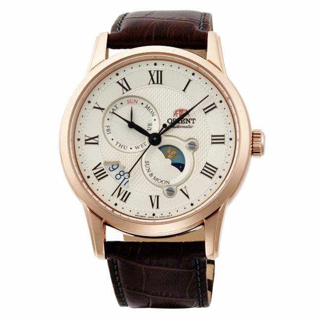 Orient 東方錶 SAK00001Y(SUN&MOON系列)新日月相錶機械腕錶/白面43mm