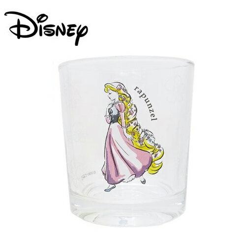 【日本正版】長髮公主玻璃水杯玻璃杯樂佩魔髮奇緣Rapunzel200ml透明水杯迪士尼-226939