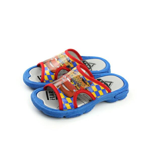閃電麥坤 Cars 拖鞋 (無鬆緊帶) 童鞋 紅色 中童 no915