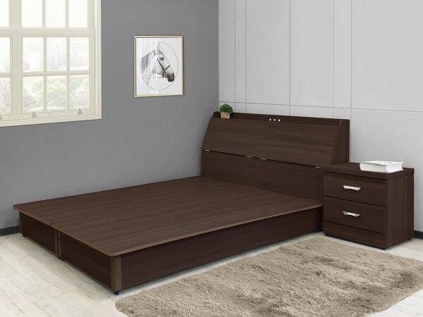 !新生活家具!《莎爾》新品5尺床箱+床頭箱+床頭櫃家具組床架床台收納箱收納櫃水洗白胡桃簡約時尚