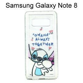 迪士尼空壓氣墊軟殼[Q版]史迪奇三星GalaxyNote8N950FD(6.3吋)【Disney正版】