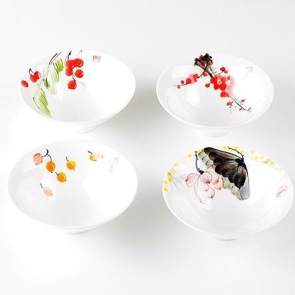 德商 陶瓷茶杯 手繪青花瓷茶杯品茗杯子 日式功夫茶具鬥笠杯(一個價)(圖一)