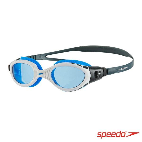 【SPEEDO】成人運動泳鏡FuturaBiofuse2018新品-SD811315C107白藍[陽光樂活]