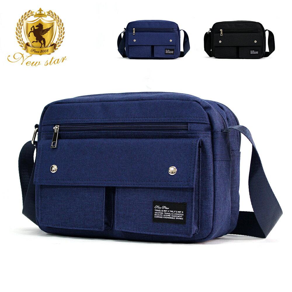側背包 經典日系防水尼龍雙口袋雙層斜背包 porter風 NEW STAR BL133