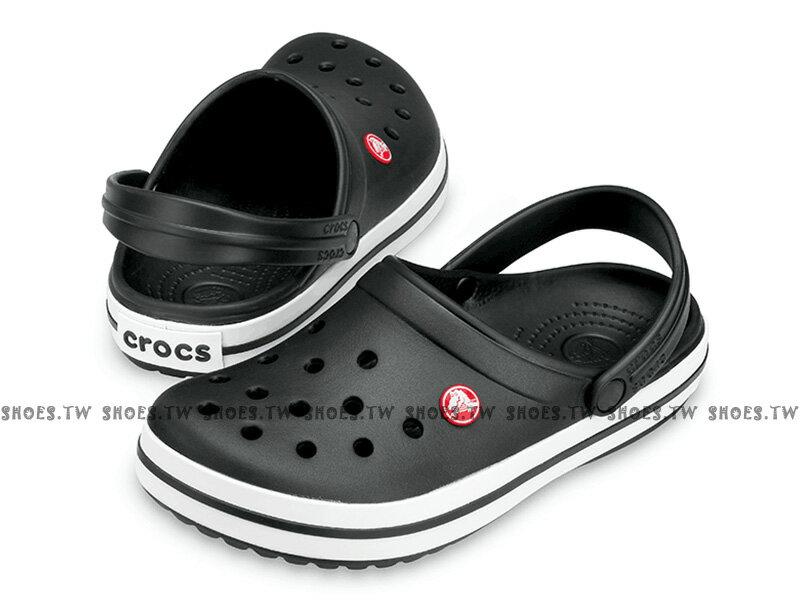 Shoestw【11016-001】CROCS 卡駱馳 鱷魚 輕便鞋 拖鞋 涼鞋 黑白 中性款 男女尺寸都有 0