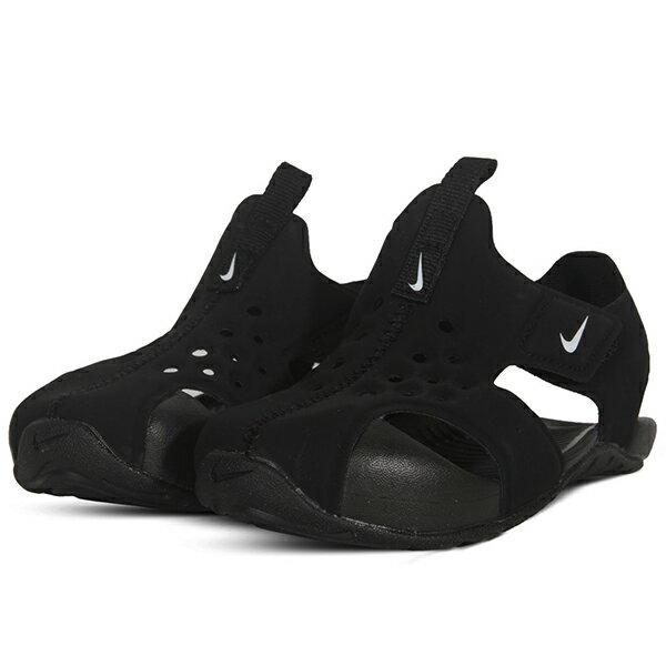 Shoestw【943827-001】NIKE Sunray Protect 涼鞋 洞洞 黏帶 護趾 黑色 小童鞋 1