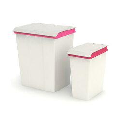 【nicegoods】晨曦時尚掀蓋垃圾桶 28公升+10公升(掀蓋 塑膠 整理箱)