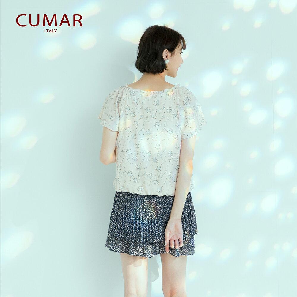 【CUMAR】休閒典雅印花-襯衫(二色) 2