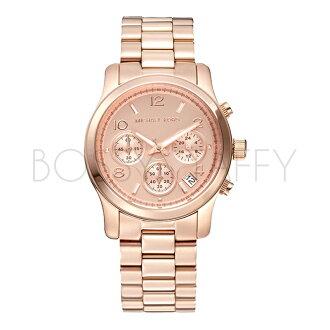 MK5128 MICHAEL KORS 都會時尚百搭玫瑰金不銹鋼錶帶 腕錶