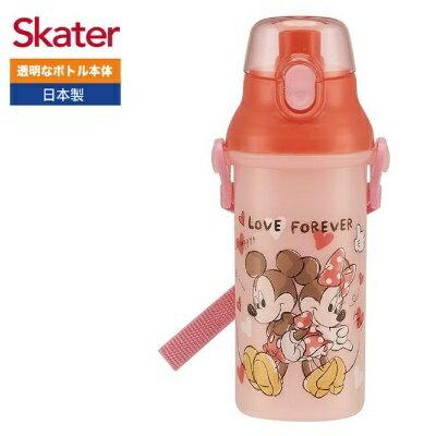 日本【Skater】直飲冷水壺480ML-米奇與米妮