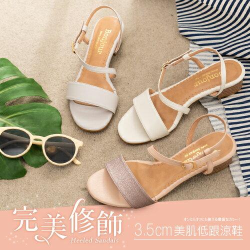 (現貨)BONJOUR☆完美修飾3.5cm美肌低跟涼鞋 Heeled Sandals【ZB0351】10色 0