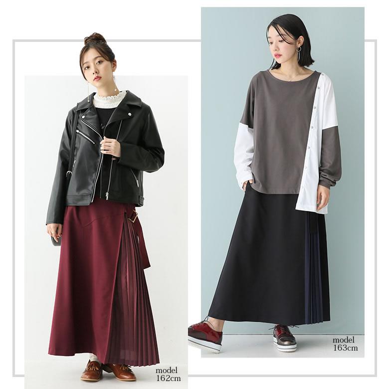 日本osharewalker  /  n'Or 個性異材拼接半身裙 長裙  /  sen0097  /  日本必買 日本樂天代購  /  件件含運 5