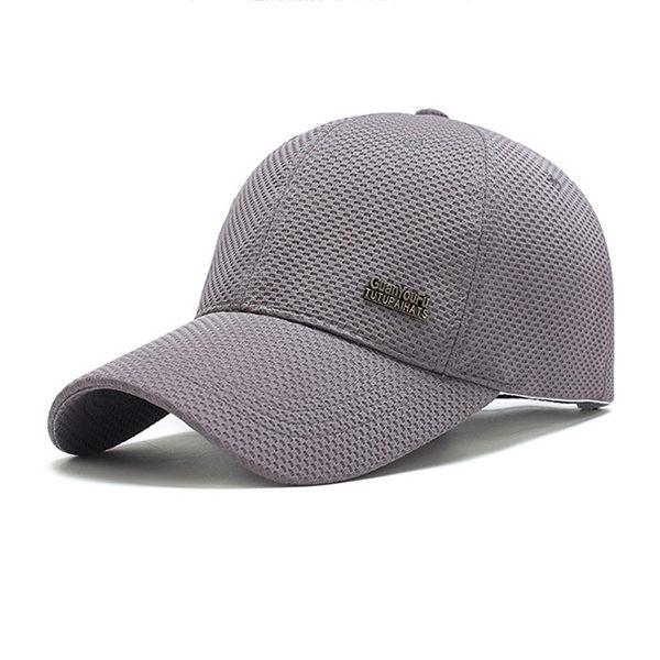PS Mall 春夏網布棒球帽男 中年戶外遮陽帽子【G1006】 2