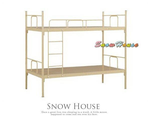╭☆雪之屋居家生活館☆╯P439-14 茶束色雙層鋼床/上下床/員工宿舍床/雙人床/外勞床/DIY自組(含床板)
