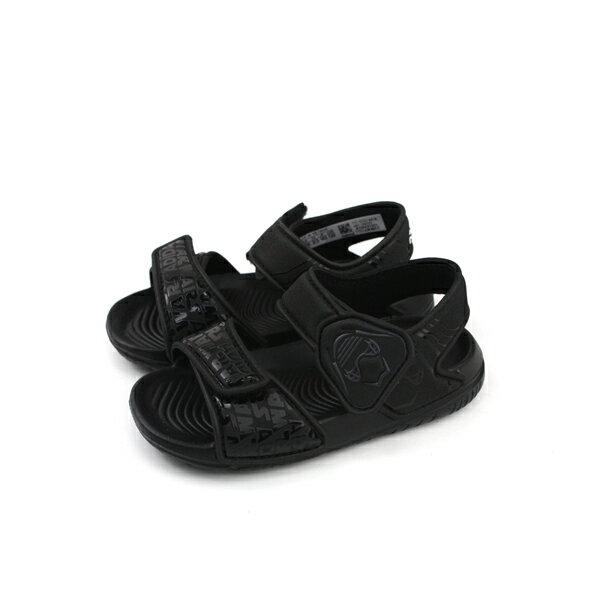 adidasStarWarsAltaSwimI星際大戰涼鞋童鞋黑色魔鬼氈小童CQ0129no586