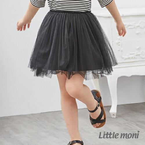 Little moni 浪漫女孩紗裙-黑色 0