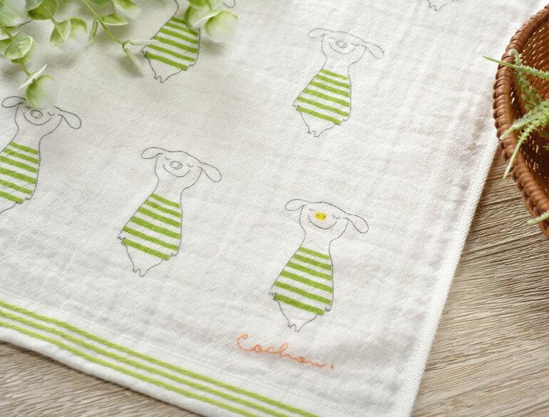 日本今治 - KONTEX - Quiche方巾(綠)《日本設計製造》《全館免運費》,純棉100%,觸感細緻質地柔軟,吸水性強,日本設計製造,天然水洗滌工法,不使用螢光染料,不添加染劑