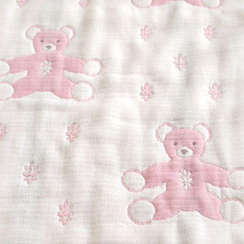 Hoppetta - Souleiado - 六層紗普羅旺斯熊包巾 (粉紅) 2