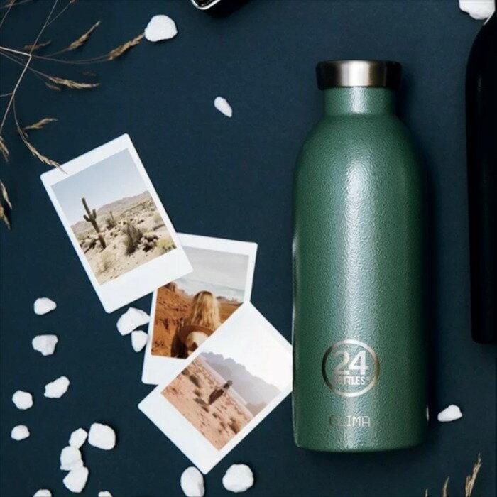 義大利 24Bottles 不鏽鋼雙層保溫瓶 500ml - 祖母綠