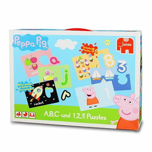 ~ Peppa Pig ~粉紅豬小妹 ~ 數字英文教育拼圖
