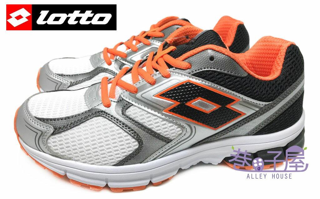 【巷子屋】義大利第一品牌-LOTTO樂得 男款ZENITH雙密度避震超輕量運動慢跑鞋 [3398] 白灰橘 超值價$590