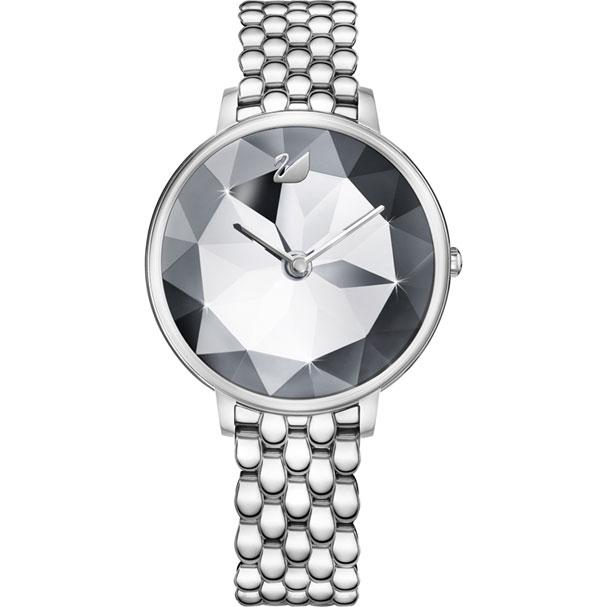 Swarovski 施華洛世奇  Crystal Lake  5416017 金屬時尚錶 / 銀 35 mm