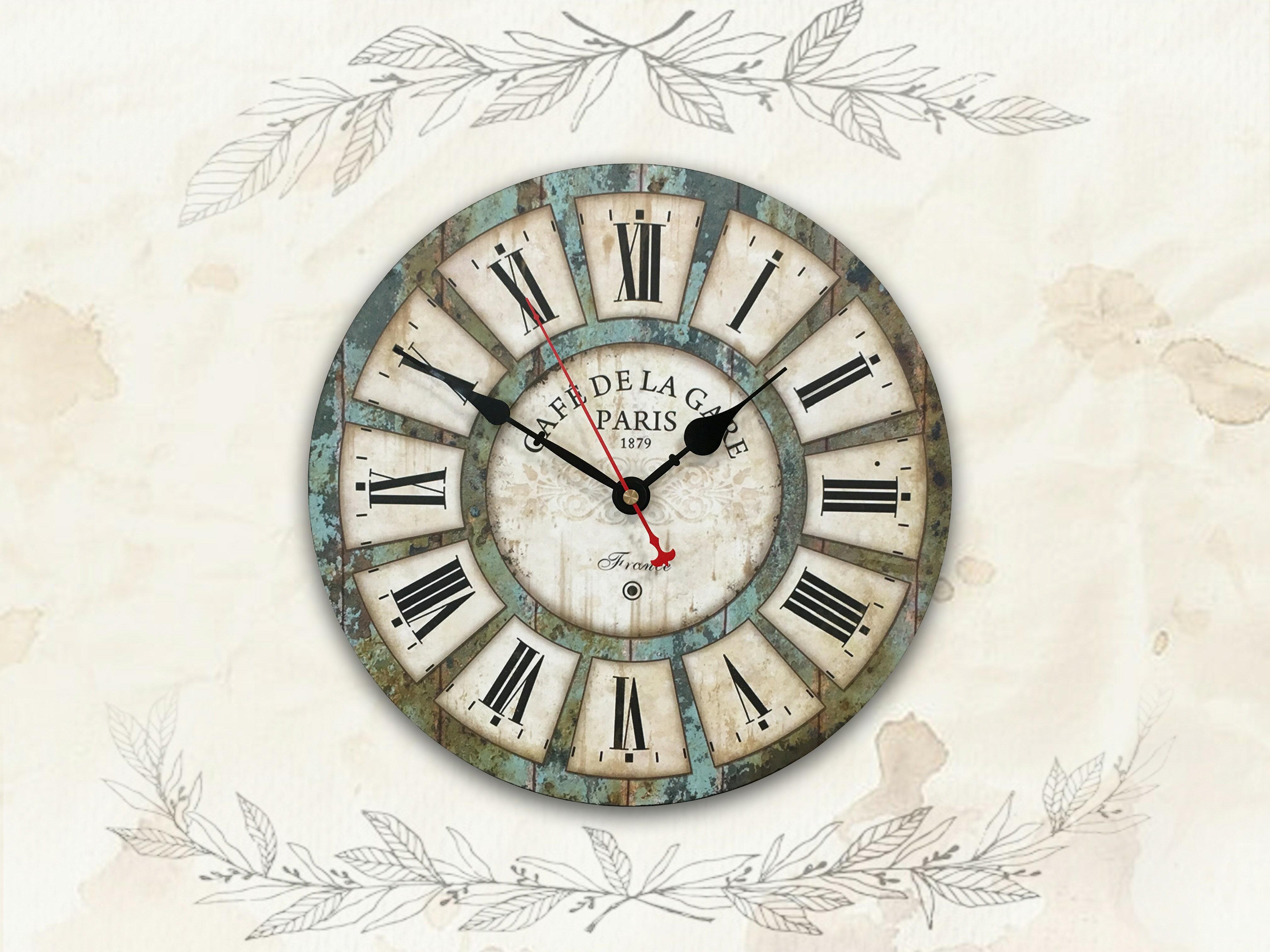 【新生活家具】木紋 羅馬數字 現代 工業 復古 美式 鄉村 靜音時鐘 掛鐘 壁鐘 時鐘《蓋瑞》非 H&D ikea 宜家