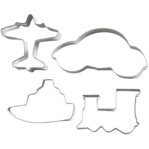 《EXCELSA》餅乾模4件(交通工具)