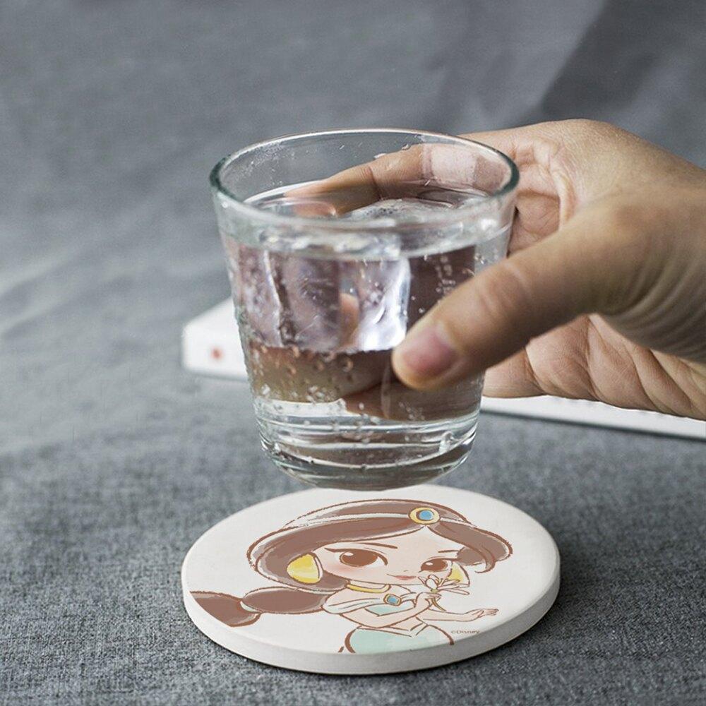 【買1送1 】迪士尼公主童話風珪藻土吸水杯墊 2
