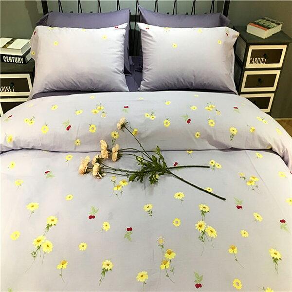 潘朵拉綠色生活概念館:挪威森林100%精梳純棉四件式雙人加大床包被套組向陽繽紛