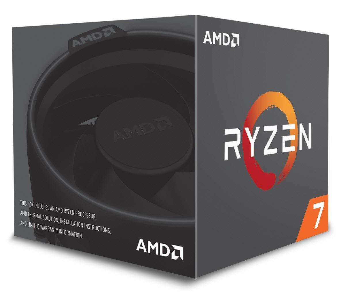 AMD Ryzen 7 2700 Processor with Wraith Spire LED Cooler - YD2700BBAFBOX 0