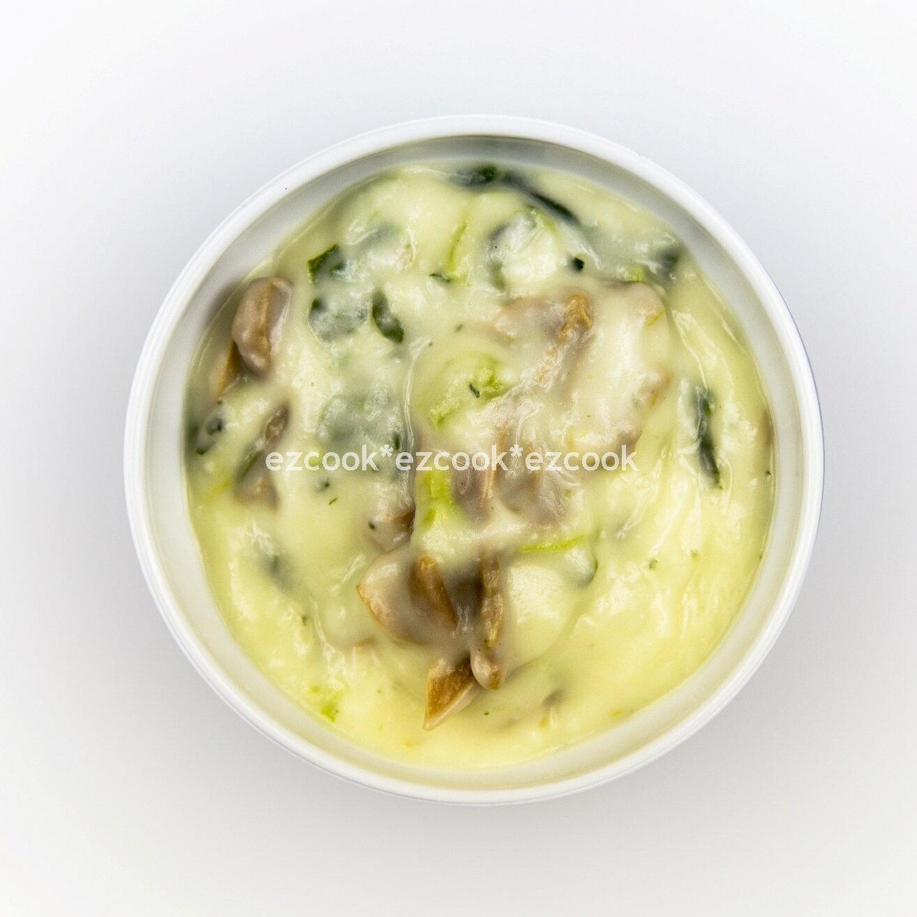 【ezcook】素蘑菇菠菜奶油白醬(可奶蛋素)(240g)