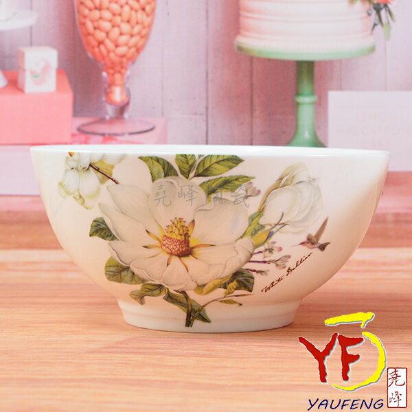★堯峰陶瓷★餐桌系列 骨瓷 白山茶 6吋高腳湯碗 碗公 麵碗