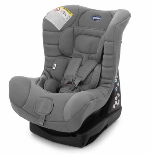 【淘氣寶寶●奶瓶清潔液+香草奶嘴】義大利原裝Chicco ELETTA全歲段汽車安全座椅(灰)