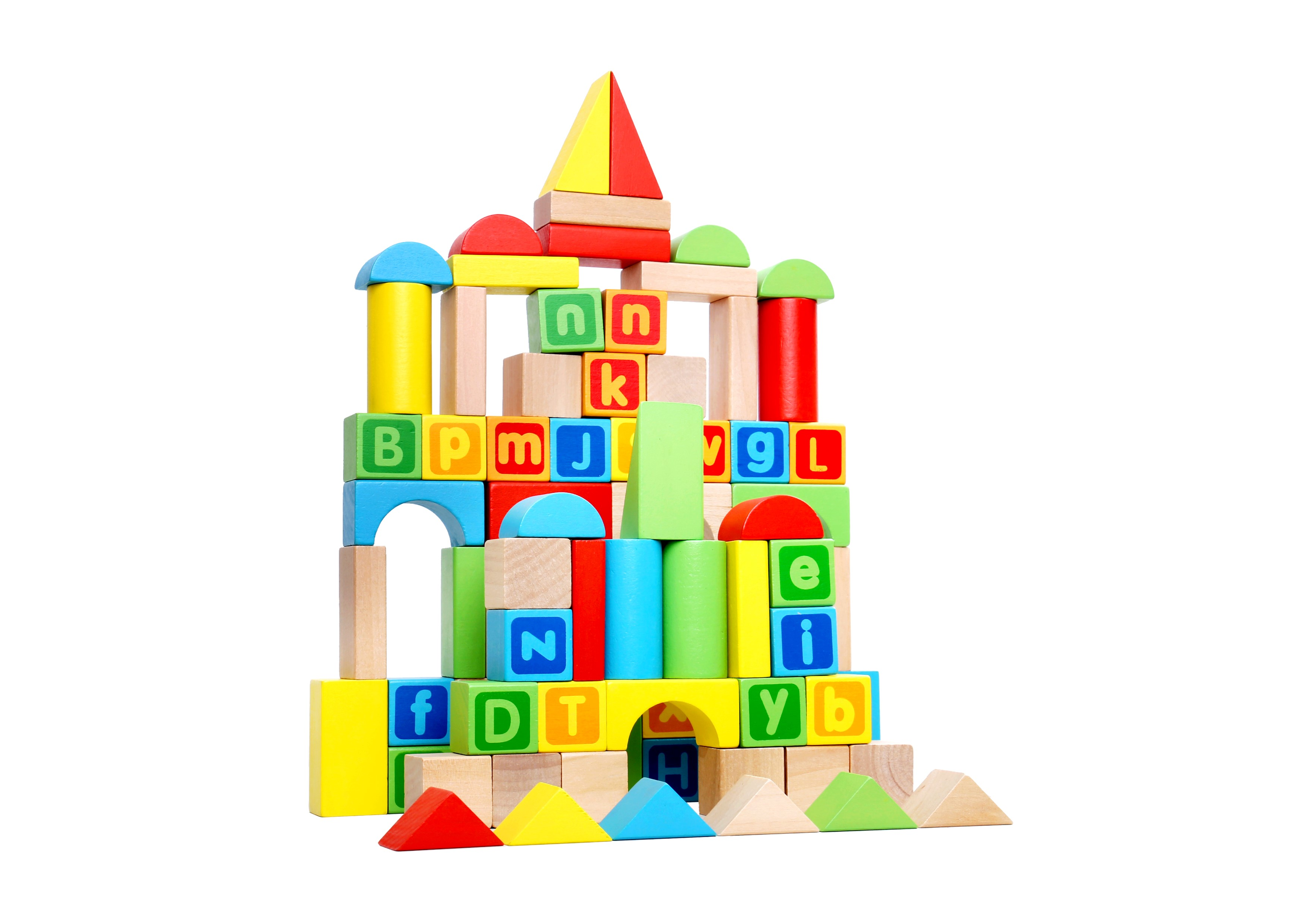 Toysters 80 Piece Wooden Colorful Classic Building Blocks Bpa Free Wood Abc Letter Block Set Game For Toddlers Interactive Stem Educational Toy
