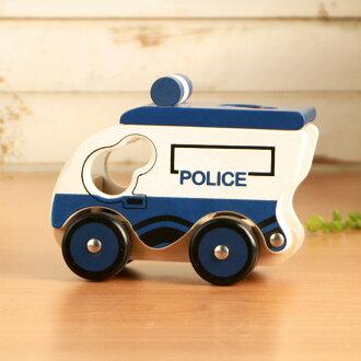 樂兒學 兒童模型車木製學習積木-警車(MT0463W)