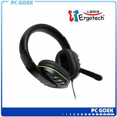 ☆軒揚pcgoex☆ 人因科技 Ergotech E258 決戰 遊戲專用耳麥 耳罩式 音量可調節 耳機麥克風