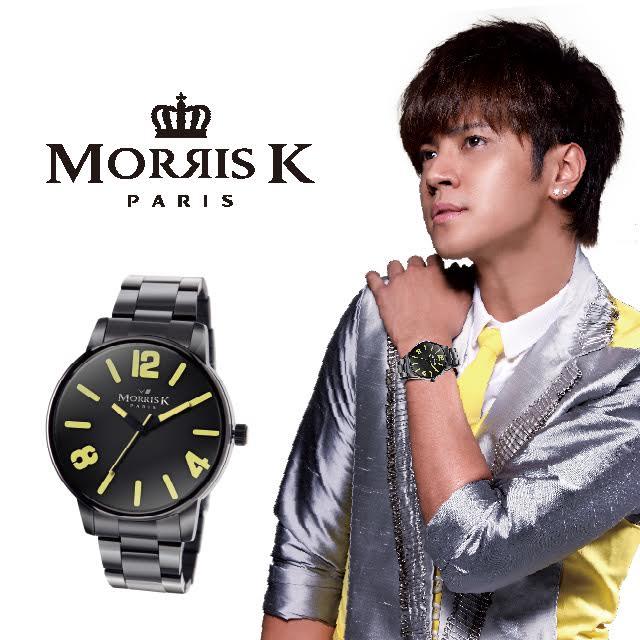 【Morris K】羅志祥代言 擁你入懷 玩色個性潮流 粉潤黃-MK11095-MB21 女錶