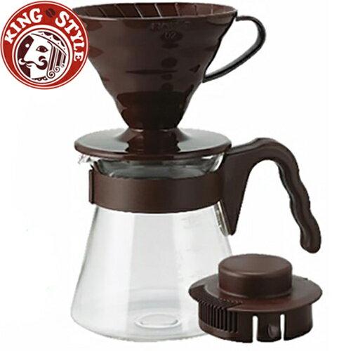 金時代書香咖啡 HARIO V60棕色濾泡咖啡壺組1~4杯 700ml / VCSD-02CBR