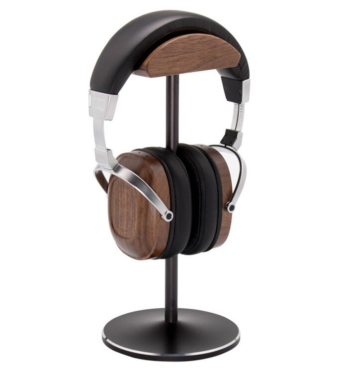 【迪特軍3C】胡桃木 木質耳機架/耳機展示架/高質感/金屬展示架/電腦耳機架/耳機支架/胡桃木/頭戴式木質耳機支架