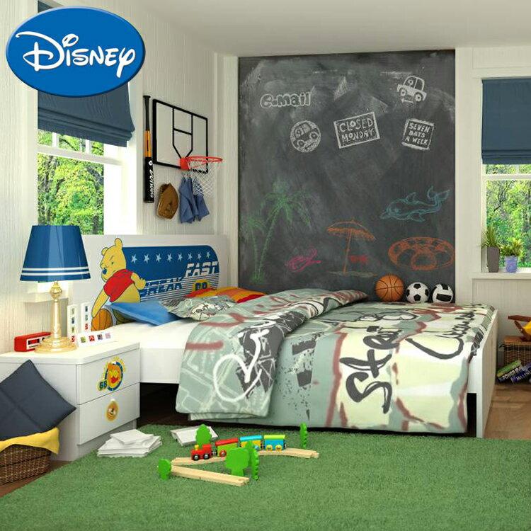 [首雅傢俬]迪士尼 雙人床架 維尼 大灌籃 5尺 雙人床 床架 兒童床 兒童家具 卡通床